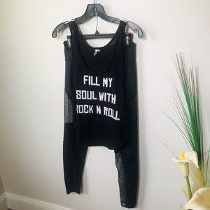 Rip Curl/ Onzie Black Yoga Set. Tank Top/leggings.